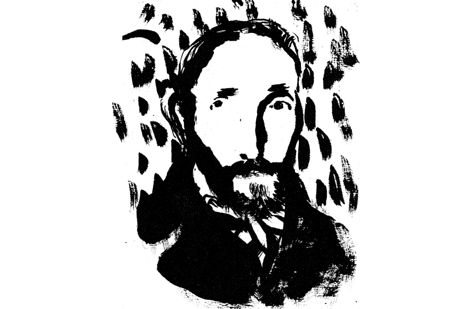 Rafael Barrett, dibujo de Ange Potier. Fuente: fronterad.com.