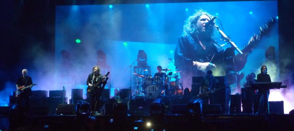 The Cure en Asunción, durante la noche del martes 9 de abril de 2013. Fotografía: blogdeonda.com.
