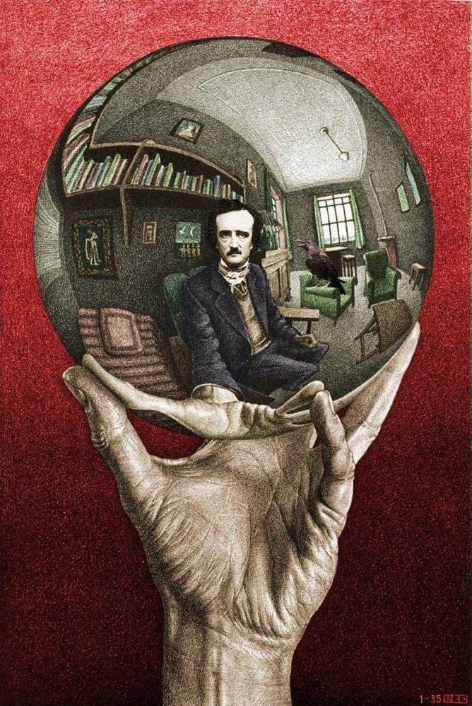 Edgar Allan Poe, por Escher.