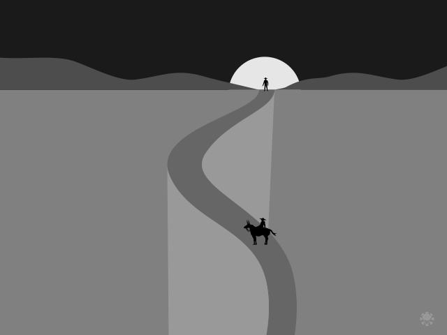 Tape po'i, una ilustración de Pedro Cuevas Aquino para el cuento Bala Pombero.