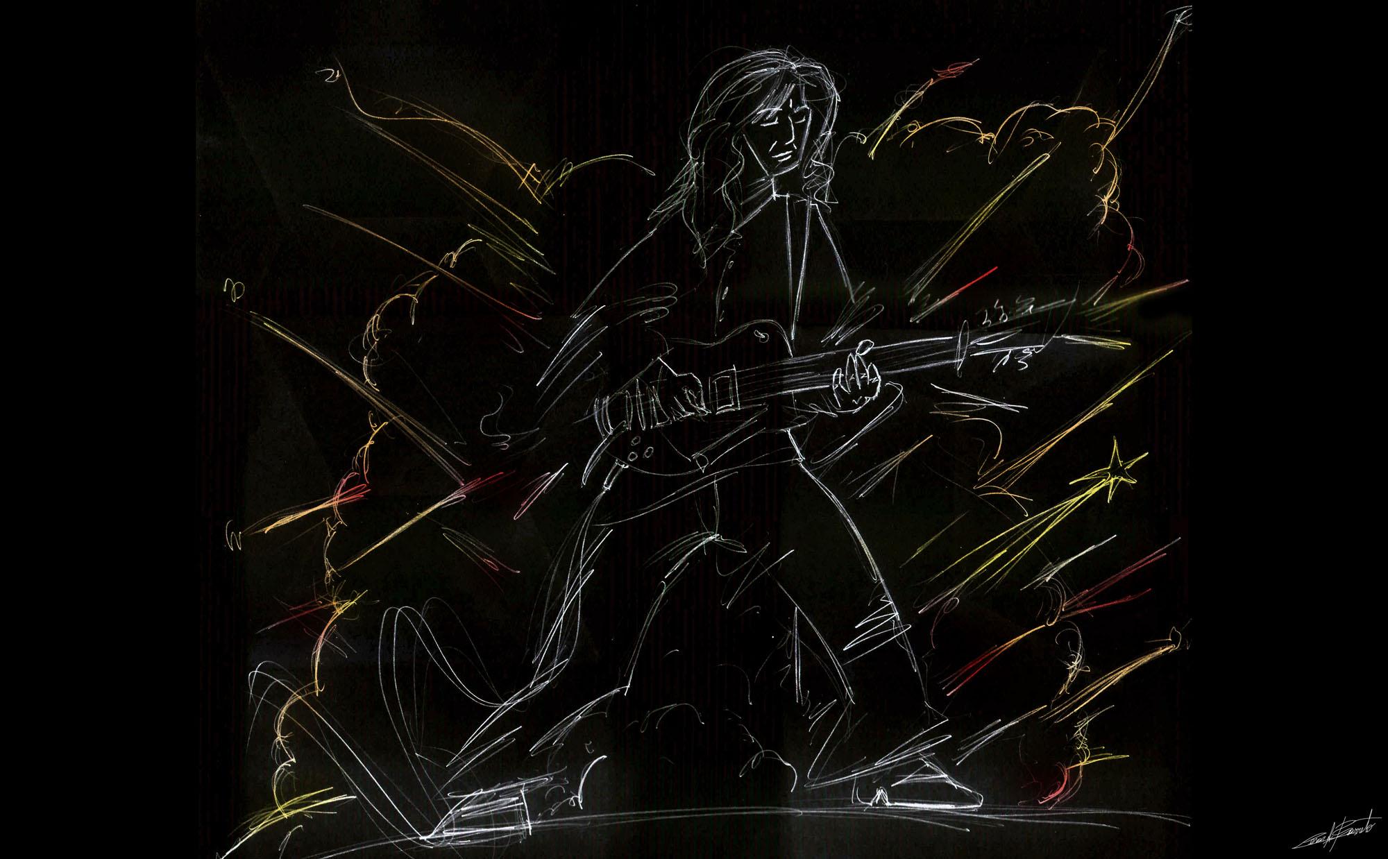 Estrella fugaz, ilustración César Barreto.