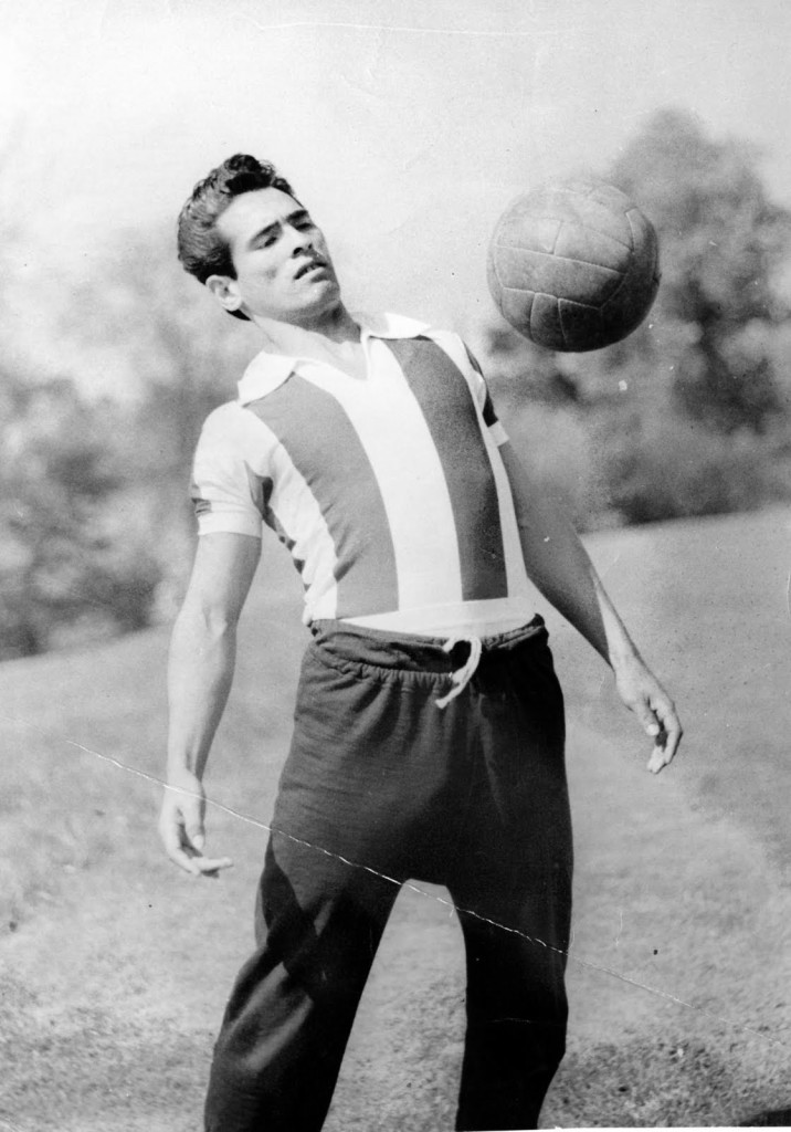 Florencio Amarilla Lacasa, de joven futbolista. Fotografía: amarillahomenaje.blogspot.com.
