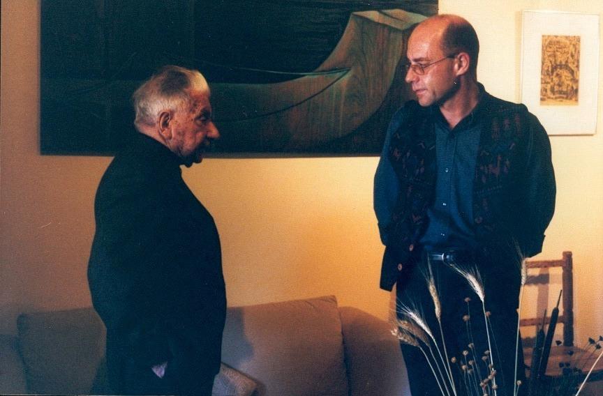 Augusto Roa Bastos y Éric Courthès, el 6 de septiembre de 2000.