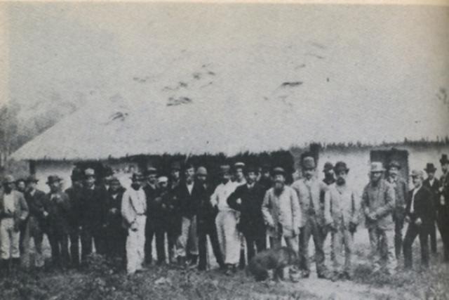 Los primeros colonos de Nueva Germania. 1886. Imagen: blogdenotasnietzsche.