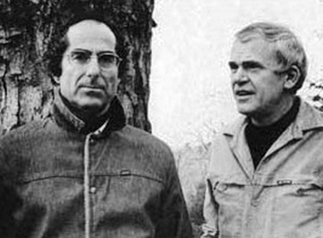 Philip Roth y Milan Kundera.