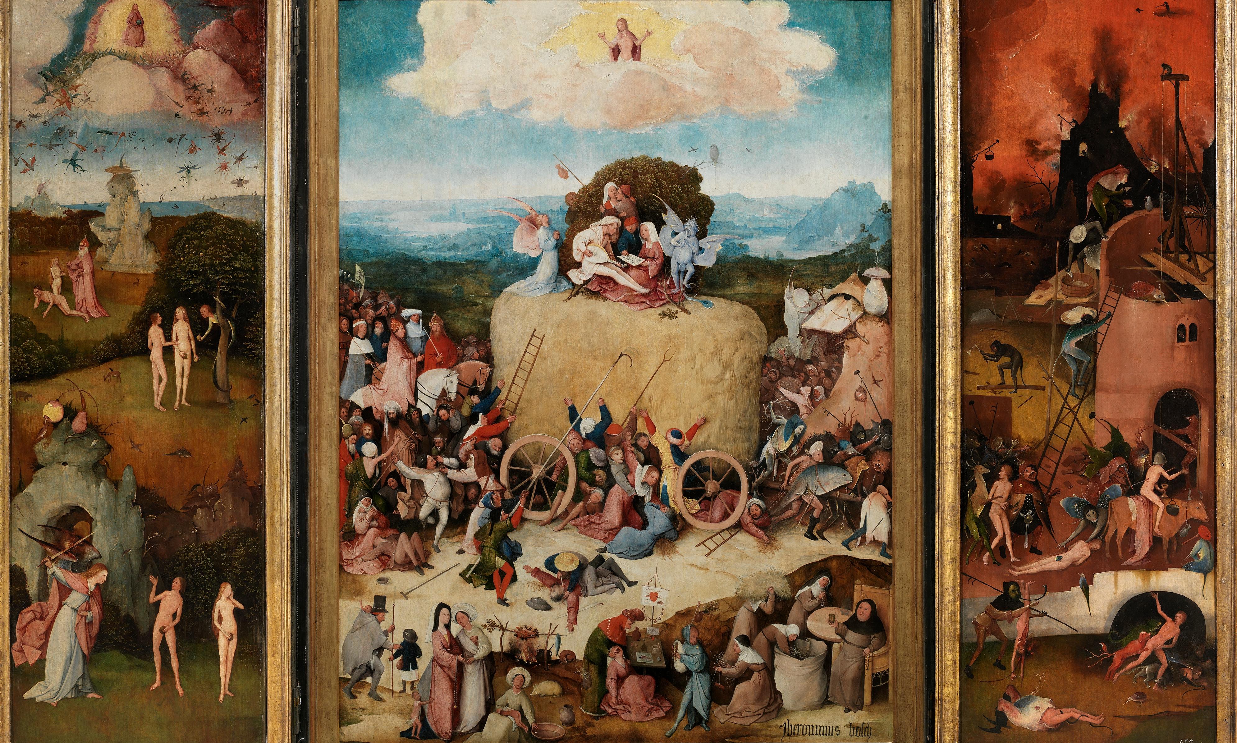 El carro del heno, de Hieronymus Bosch, El Bosco.