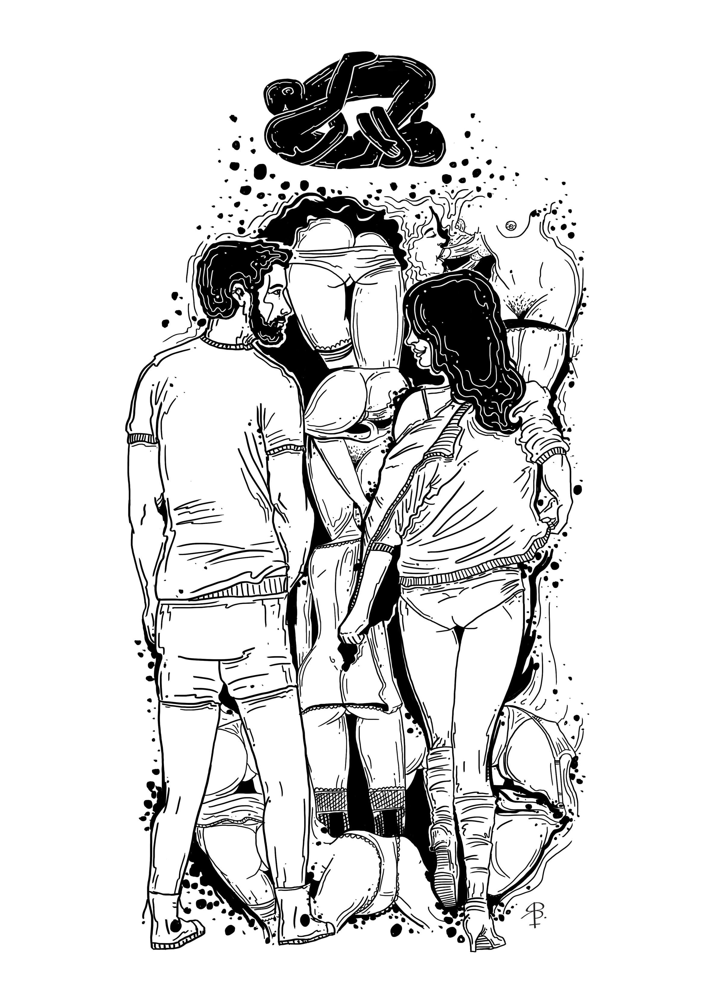 Dame el tuyo, toma el mío, según el ilustrador Robert Báez.